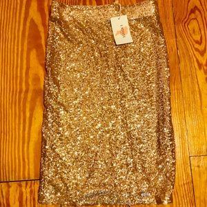 Dresses & Skirts - Gold Skirt Sequin